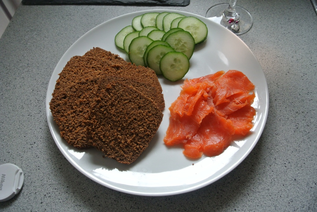 Icelandic smoked trout and rugbraud bread with a bit of cucumber and butter, one of the best souvenirs yet!