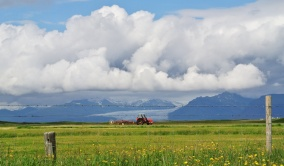 A mild climate with much agricultural activity despite being just miles from the Arctic Circle.