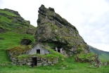 Found only in Iceland's southern region, man made cave shelters.