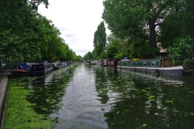 London's canal area, Little Venice near Paddington Station