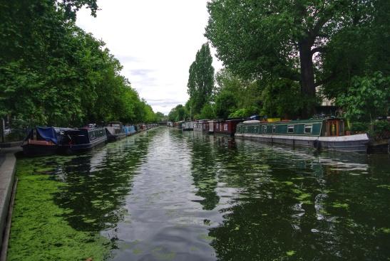 London's canal area, Little Venice near Paddington Station
