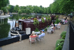 Quaint canal-side cafe at London's Little Venice