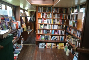 Browsing below deck at Word On The Water